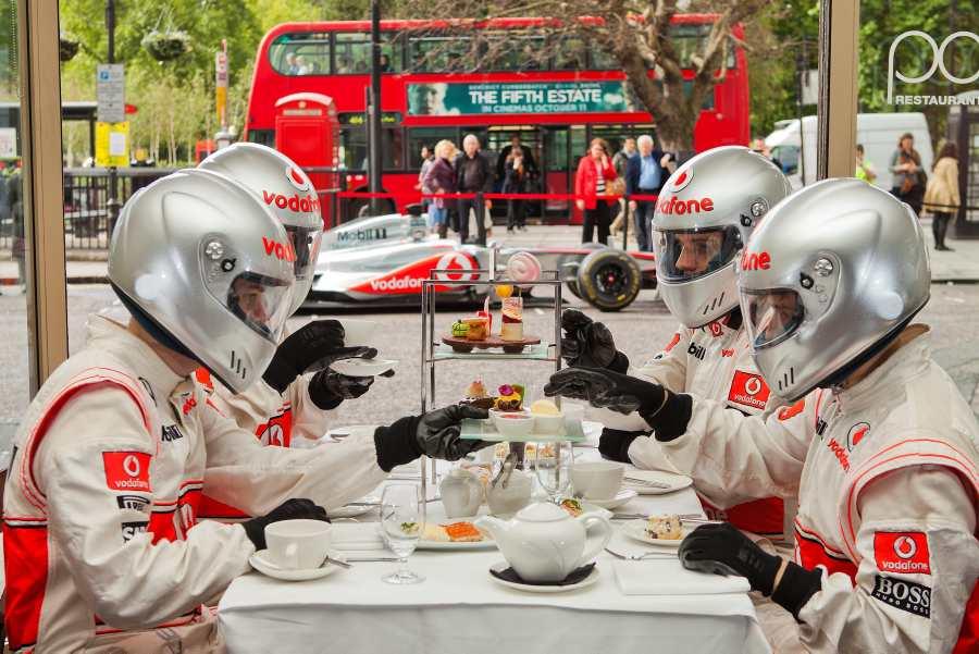 Hilton/McLaren Shoot, Park Lane, London.October 4, 2013.